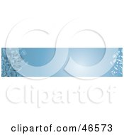 Royalty Free RF Clipart Illustration Of A Blue Horizontal Floral Panel Or Blank Website Header by KJ Pargeter