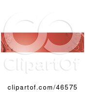 Royalty Free RF Clipart Illustration Of A Red Horizontal Floral Panel Or Blank Website Header