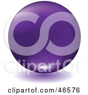 Matte Purple Floating Sphere With A Shadow On White