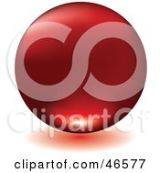 Royalty Free RF Clipart Illustration Of A Matte Red Floating Sphere With A Shadow On White