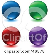 Royalty Free RF Clipart Illustration Of A Digital Collage Of Colorful Matte Floating Spheres With Shadows by KJ Pargeter