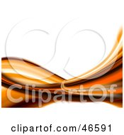 Royalty Free RF Clipart Illustration Of An Abstract Orange Wave Background On White
