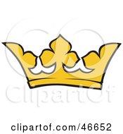 Simple Yellow Kings Crown