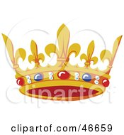 Ruby Sapphire And Pearl Adorned Kings Crown