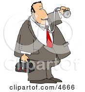 House Call Doctor With A Medical Bag And Stethoscope Clipart