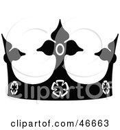 Black Royal Head Crown