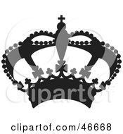 Clipart Illustration Of A Black Royal Balloon Herald Crown by dero #COLLC46668-0053