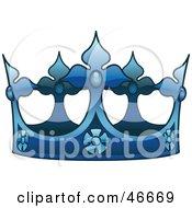 Ornate Blue Kings Crown