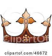 Ornate Brown Kings Crown
