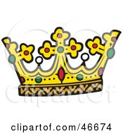 Kings Crown With Rubies Pearls And Emeralds