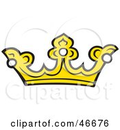 Yellow Kings Crown With Pearls