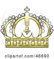 Clipart Illustration Of A Gold Beaded Kings Crown