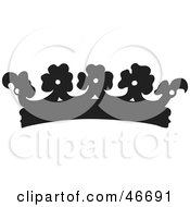 Clipart Illustration Of A Black Floral Patterned Herald Crown by dero