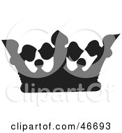 Clipart Illustration Of A Black Cross And Dot Patterned Herald Crown by dero
