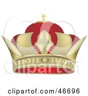 Clipart Illustration Of A Red And Gold Kings Crown by dero