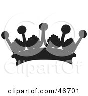 Clipart Illustration Of A Black Patterned Herald Crown by dero