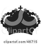 Clipart Illustration Of A Silhouetted Black Balloon Herald Crown by dero