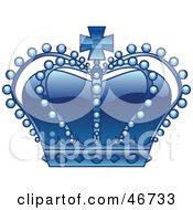 King crown clip art blue - photo#13