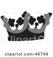 Clipart Illustration Of A Black Cross And Circle Patterned Herald Crown by dero