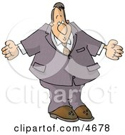 Businessman Man Shrugging His Shoulders Clipart