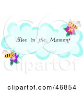 Royalty Free RF Clipart Illustration Of A Bee In The Moment Greeting On A Cloud