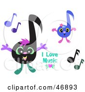 I Love Music Greeting With Notes