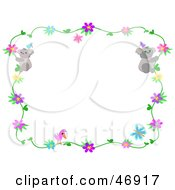 Royalty Free RF Clipart Illustration Of A Koala Bird And Floral Vine Border
