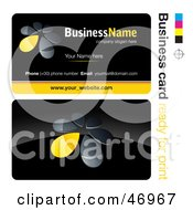Royalty Free RF Clipart Illustration Of A Pre Made Yellow Flower Petal Business Card Design by beboy