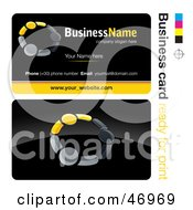 Royalty Free RF Clipart Illustration Of A Pre Made Yellow Teamwork Business Card Design by beboy