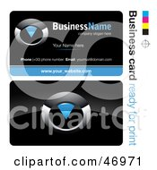 Royalty Free RF Clipart Illustration Of A Pre Made Blue Timer Business Card Design by beboy