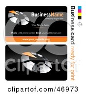 Royalty Free RF Clipart Illustration Of A Pre Made Orange Timer Business Card Design by beboy