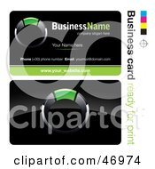Royalty Free RF Clipart Illustration Of A Pre Made Green Ring Business Card Design by beboy