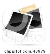 Royalty Free RF Clipart Illustration Of Two Blank Polaroid Pictures Taped Together
