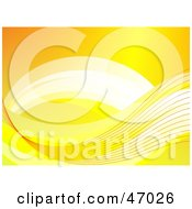 Clipart Illustration Of A Yellow Background With A Flowing Wave by Prawny