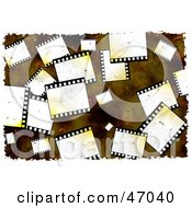 Clipart Illustration Of A Grungy Background Of Blank Film Strips