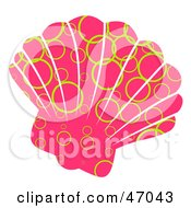 Clipart Illustration Of A Circle Patterned Pink Scallop Sea Shell by Prawny