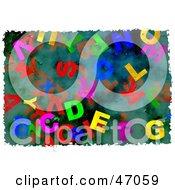 Jumbled Grungy Alphabet Background