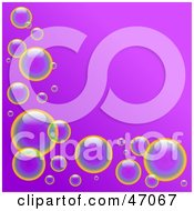 Clipart Illustration Of A Purple Background With Shiny Bubbles by Prawny