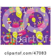 Clipart Illustration Of Happy Balloons With Cake Gifts And Wine by Prawny
