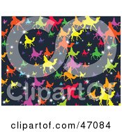Dark Blue Background Of Stars And Colorful Wise Men On Camels