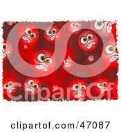 Clipart Illustration Of A Background Of Red Grungy Mad Faces