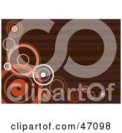 Clipart Illustration Of A Retro Brown Background With Circles