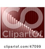 Clipart Illustration Of A Tall Red Bar Graph Background by Prawny