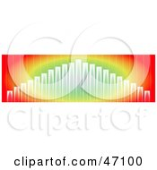 Clipart Illustration Of A Rainbow Colored Graph Background by Prawny