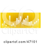 Clipart Illustration Of A Varying Yellow Graph Background by Prawny