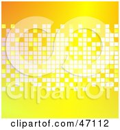 Clipart Illustration Of A Yellow Background With White Blocks