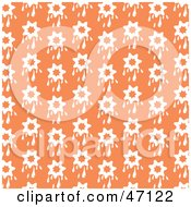 Clipart Illustration Of An Orange Background Of White Dripping Stars