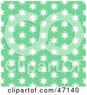 Clipart Illustration Of A Green Background Of White Spinning Stars