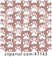 Clipart Illustration Of A Patterned Background Of White Paw Prints by Prawny