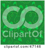 Clipart Illustration Of A Green Background Of Circles And Leaves by Prawny